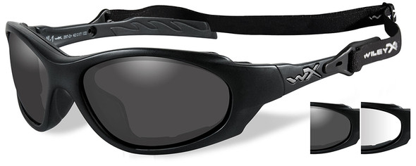 Wiley X XL-1 Advanced Ballistic Safety Glasses Kit with Matte Black Frame and Grey & Clear Lenses 291
