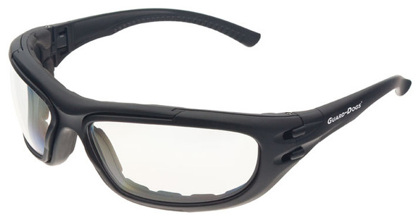 Guard Dogs G100 Safety Glasses/Goggle with Black Frame and Clear Anti-Fog Lenses 2G102014