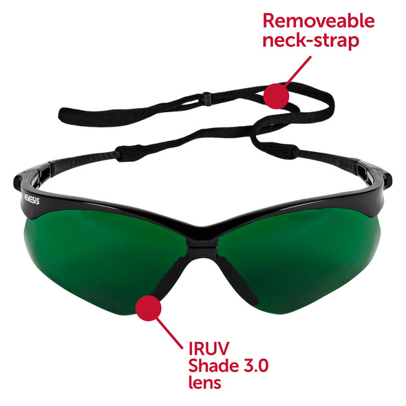 KleenGuard Nemesis Safety Glasses with Shade 3 Lens 25692 Front View