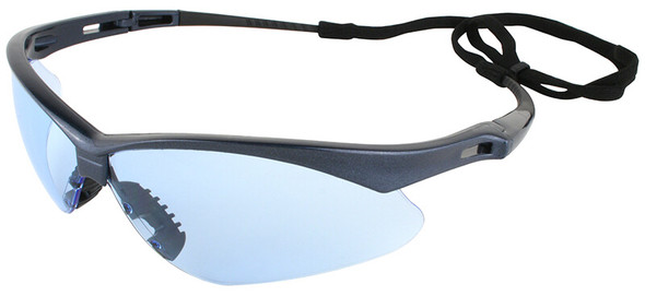 KleenGuard Nemesis Safety Glasses with Blue Frame and Light Blue Lens