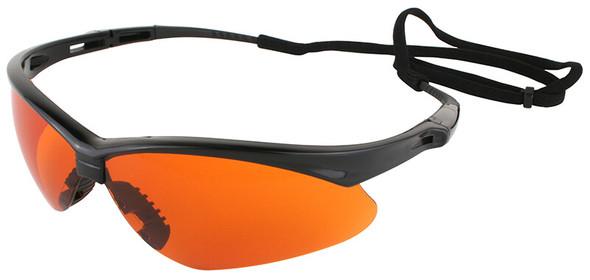 Jackson Nemesis Safety Glasses with Black Frame and Blue Shield Lens 19642