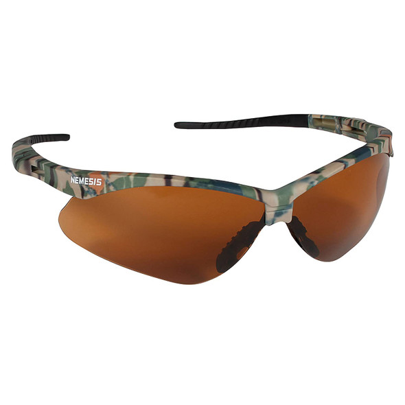 KleenGuard Nemesis Safety Glasses with Camo Frame and Bronze Lens 19644 Side View