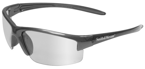 Smith & Wesson Equalizer Safety Glasses with Gun Metal Frame and Indoor/Outdoor Lens