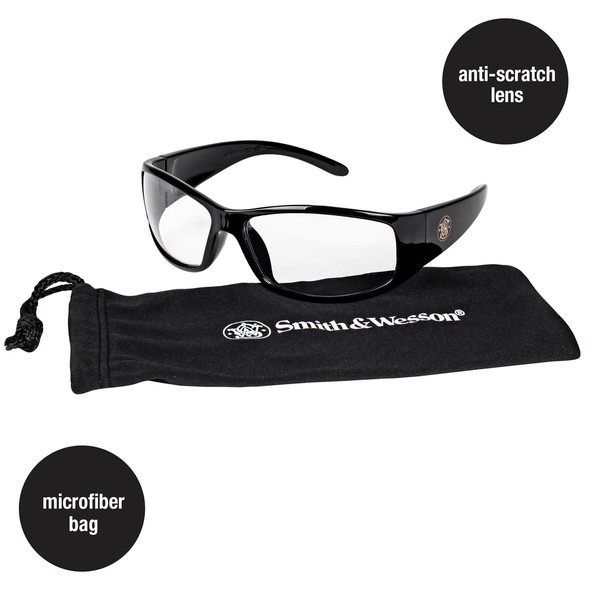 Smith & Wesson Elite Safety Glasses Clear Anti-Fog Lens 21302 Key Features