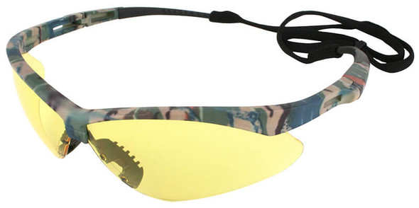 KleenGuard Nemesis Safety Glasses with Camo Frame and Anti-Fog Amber Lens