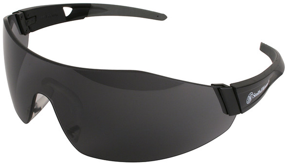 Smith & Wesson 44-Magnum Safety Glasses with Black Temples and Smoke Anti-Fog Lens 23453