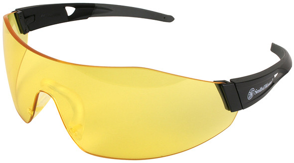 Smith & Wesson 44-Magnum Safety Glasses with Black Temples and Amber Anti-Fog Lens 23456