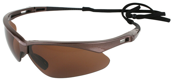 KleenGuard Nemesis Polarized Safety Glasses with Brown Frame and Brown Lens 28637