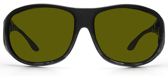 Haven Summerwood OTG Sunglasses with Black Frame and Yellow Polarized Lens - Front