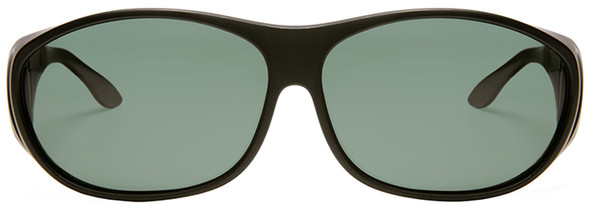 Haven Meridian OTG Sunglasses with Black Frame and Gray Polarized Lens - Front