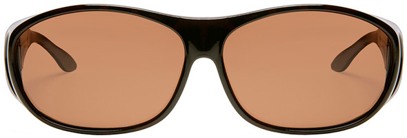 Haven Meridian OTG Sunglasses with Tortoise Frame and Amber Polarized Lens - Front