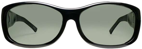 Haven Sunset OTG Sunglasses with Midnight Blue Frame and Gray Polarized Lens - Front