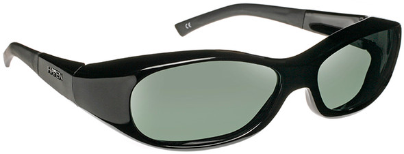 Haven Avalon OTG Sunglasses with Gloss Black Frame and Gray Polarized Lens