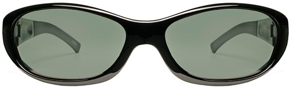 Haven Avalon OTG Sunglasses with Gloss Black Frame and Gray Polarized Lens - Front