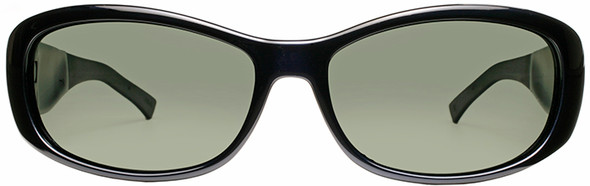 Haven Solana OTG Sunglasses with Midnight Blue Frame and Gray Polarized Lens - Front