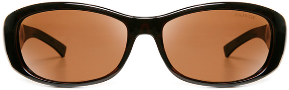 Haven Solana OTG Sunglasses with Tortoise Frame and Amber Polarized Lens - Front