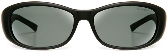 Haven Solana OTG Sunglasses with Gloss Black Frame and Gray Polarized Lens - Front