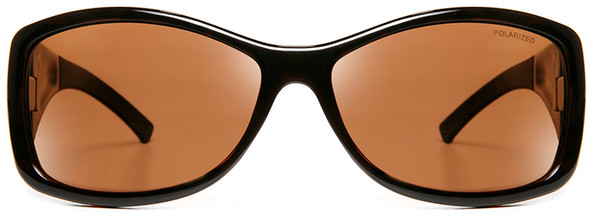 Haven Balboa OTG Sunglasses with Tortoise Frame and Amber Polarized Lens - Front