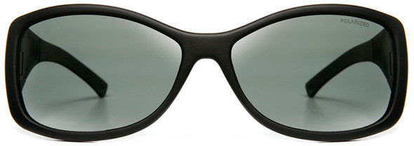 Haven Balboa OTG Sunglasses with Gloss Black Frame and Gray Polarized Lens - Front