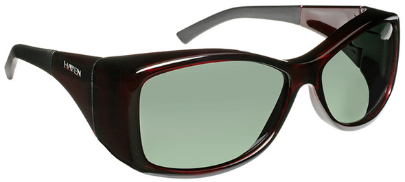 Haven Balboa OTG Sunglasses with Gloss Wine Frame and Gray Polarized Lens