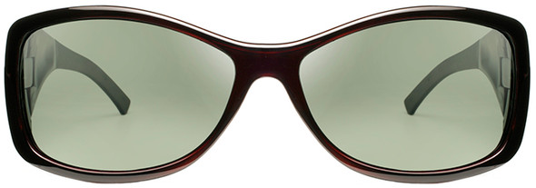 Haven Balboa OTG Sunglasses with Gloss Wine Frame and Gray Polarized Lens - Front