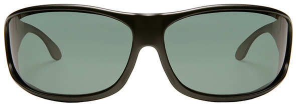 Haven Malloy OTG Sunglasses with Black Frame and Gray Polarized Lens - Front