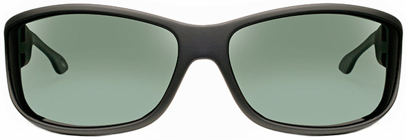 Haven Foxen OTG Sunglasses with Black Frame and Gray Polarized Lens - Front