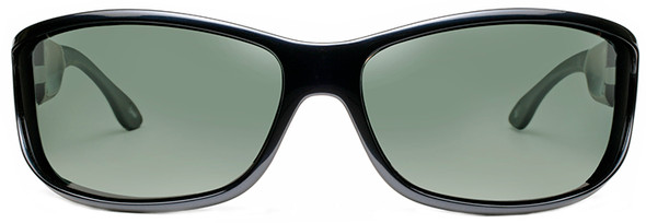 Haven Foxen OTG Sunglasses with Midnight Blue Frame and Gray Polarized Lens - Front
