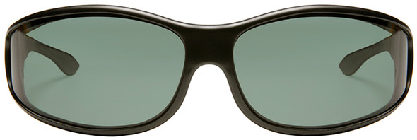 Haven Tolosa OTG Sunglasses with Black Frame and Gray Polarized Lens - Front
