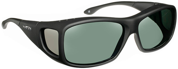 Haven Denali OTG Sunglasses with Soft Matte Black Frame and Gray Polarized Lens