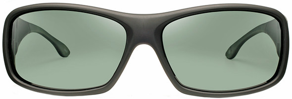 Haven Denali OTG Sunglasses with Soft Matte Black Frame and Gray Polarized Lens - Front