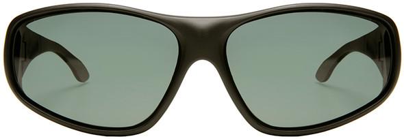 Haven Rainier OTG Sunglasses with Soft Matte Black Frame and Gray Polarized Lens - Front