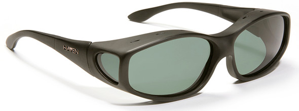 Haven Biscayne OTG Sunglasses with Soft Matte Black Frame and Gray Polarized Lens