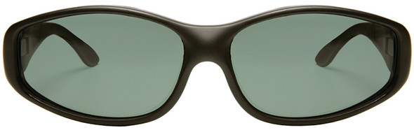 Haven Biscayne OTG Sunglasses with Soft Matte Black Frame and Gray Polarized Lens - Front