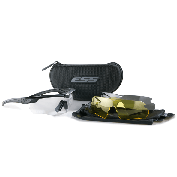 ESS Crossbow 3 Lens Kit Black Frame Clear, Smoke Gray, Hi-Def Yellow Lenses 740-0387