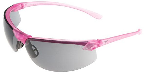 Encon Veratti LS7 Safety Glasses with Pink Frame and Gray Lens