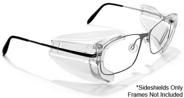 Safety Optical B22 MHS Slip-On Sideshields On Glasses