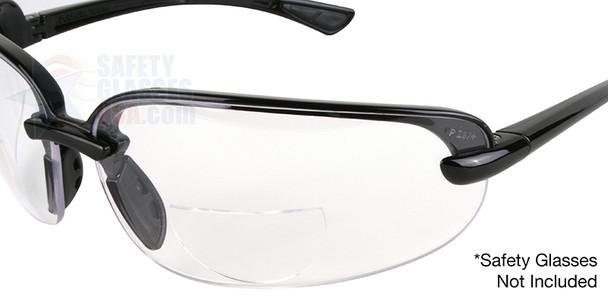 Optx 20/20 Hydrotac Stick On Bifocal Lenses On Sample Glasses