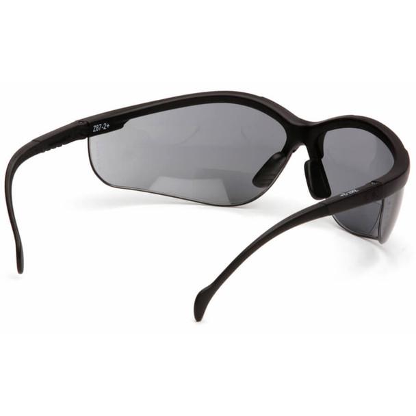 Pyramex V2 Reader Bifocal Safety Glasses with Gray Lens - Back