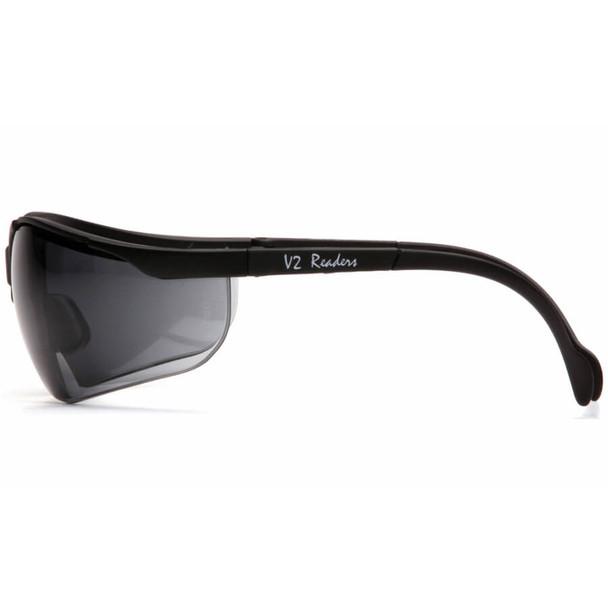 Pyramex V2 Reader Bifocal Safety Glasses with Gray Lens - Side