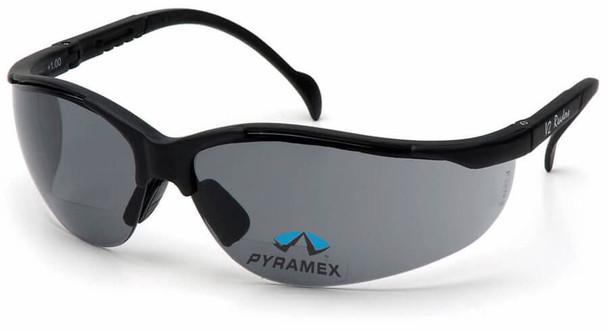 Pyramex V2 Reader Bifocal Safety Glasses with Gray Lens