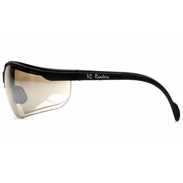 Pyramex V2 Reader Bifocal Safety Glasses with Indoor/Outdoor Lens - Side