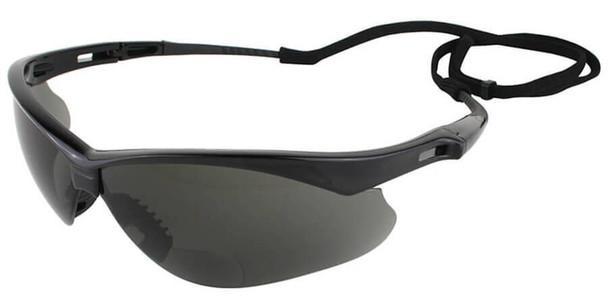 KleenGuard Nemesis Rx Bifocal Safety Glasses With Smoke Lens