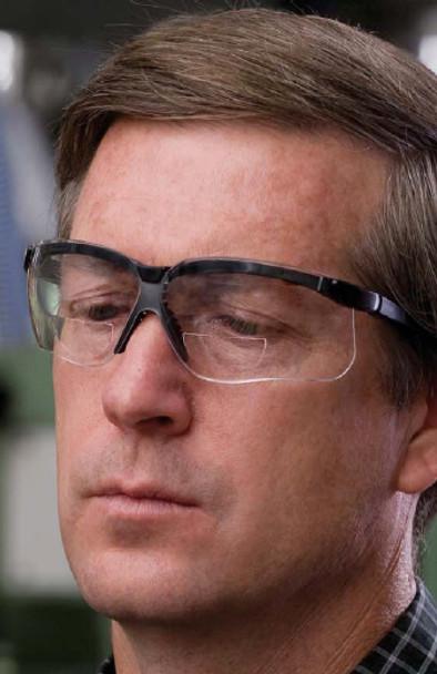 Uvex Genesis Readers Safety Glasses Black Frame Gray Ultra-Dura Lens