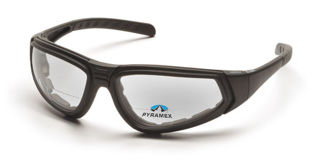 Pyramex XSG Bifocal Safety Goggle with Black Frame and Clear Anti-Fog Lens - With Temples