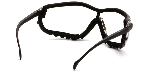 Pyramex V2G Bifocal Safety Glasses/Goggles with Black Frame and Clear Lens - Back