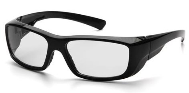 Pyramex Emerge Safety Glasses with Black Frame and Clear Full Magnifying Lens SB7910D