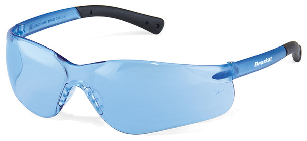 Crews Bearkat 3 Safety Glasses with Light Blue Lenses and Soft Gel Nose Pad