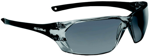 Bolle Prism Safety Glasses with Black Temples and Smoke Anti-Fog Lens