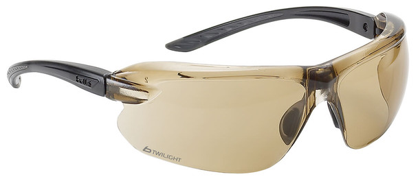 Bolle IRI-s Safety Glasses with Black Temples and Twilight Anti-Fog Lens
